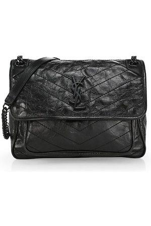 Saint Laurent Women Handbags - Niki Leather Crossbody Bag
