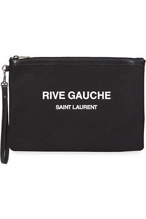 Saint Laurent Rive Gauche Cotton Wristlet
