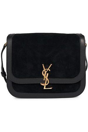 Saint Laurent Women Handbags - Sue Suede & Leather Shoulder Bag