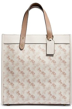 Coach Women Handbags - Field Horse & Carriage Coated Canvas Tote