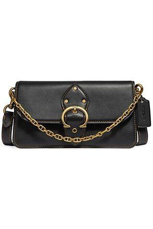 Coach Women Handbags - Beat Leather Baguette