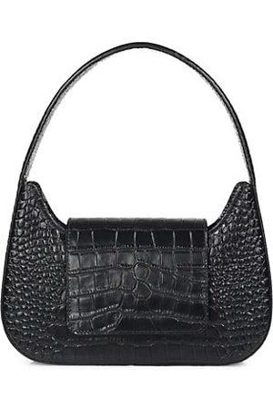 SIMON MILLER Women Handbags - Retro Croc-Embossed Leather Shoulder Bag