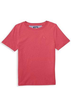Tom & Teddy Boys Short Sleeve - Little Boy's & Boy's Solid T-Shirt