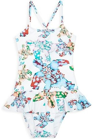 Vilebrequin Little Girl's & Girl's Grilly Watercolor Turtles One-Piece Swimsuit
