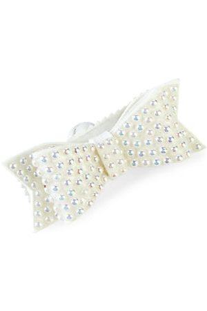 Bari Lynn Girls Hair Accessories - Faux Pearl & Crystal Bow Hair Clip