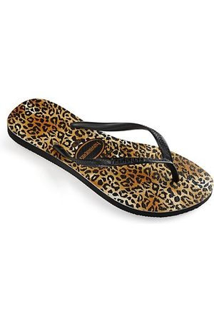 Havaianas Little Girl's & Girl's Slim Leopard-Print Flip Flops