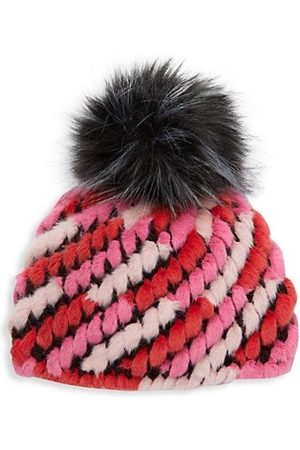 JOCELYN Kid's Faux Fur Knitted Pineapple Hat