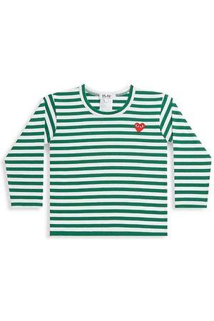Comme des Garçons Little Kid's Play Kids Striped Logo Shirt