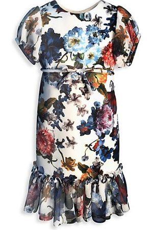 Helena and Harry Little Girl's & Girl's Floral Flounce-Hem Dress