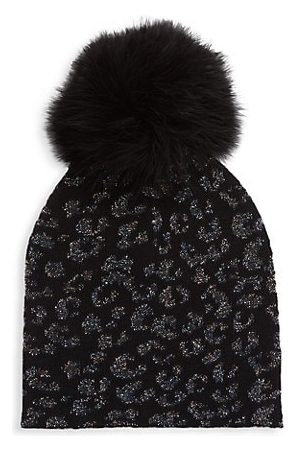 JOCELYN Kid's Cashmere Blend Lurex Jacquard Knit Gloves