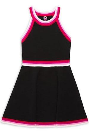 Zoe Girls Knitted Dresses - Little Girl's & Girl's Halterneck Stripe Trim Dress