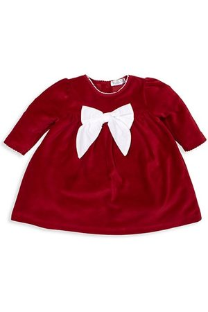 Kissy Kissy Baby Dresses - Baby Girl's Here Comes Santa Claus Velour Dress