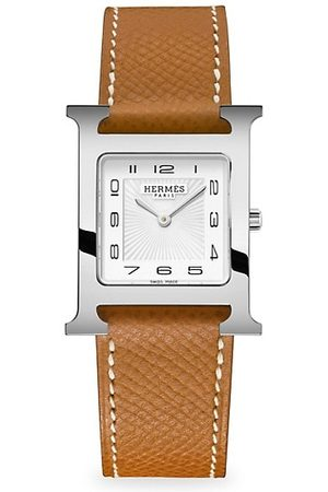 Hermès Heure H 26MM Stainless Steel & Leather-Strap Watch