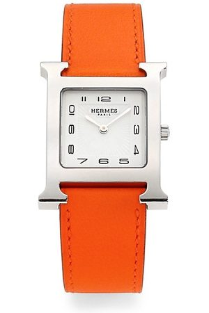 Hermès Watches - Heure H 26MM Stainless Steel & Leather Strap Watch