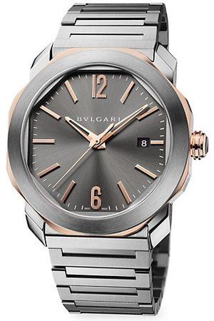 Bvlgari Octo Roma 18K Rose Gold & Stainless Steel Bracelet Watch