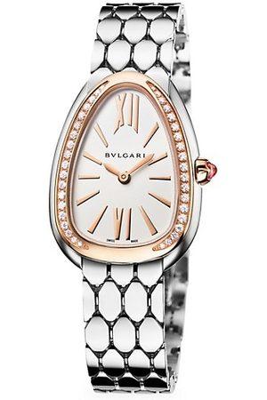 Bvlgari Watches - Serpenti Seduttori 18K Rose Gold, Stainless Steel & Diamond Bracelet Watch