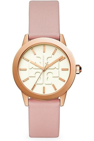 Tory Burch Gigi Rose Goldtone Stainless Steel & Leather Strap Watch