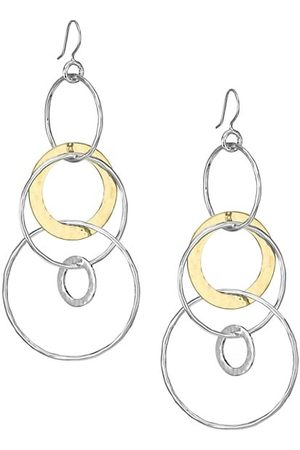 Ippolita Classico Jumbo Chimera Two-Tone Hammered Jet Set Earrings