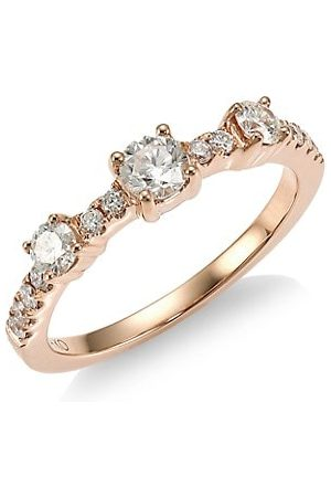 Anita Collins 18K Rose & Diamond Ring