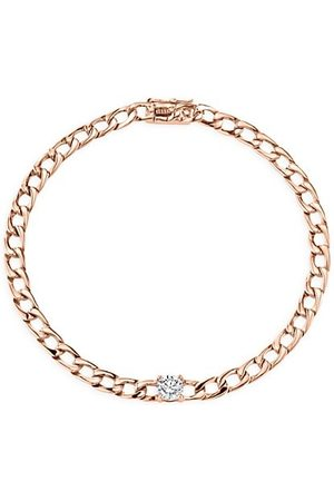 Anita Bracelets - Diamond 18K Rose Plain Chain Bracelet