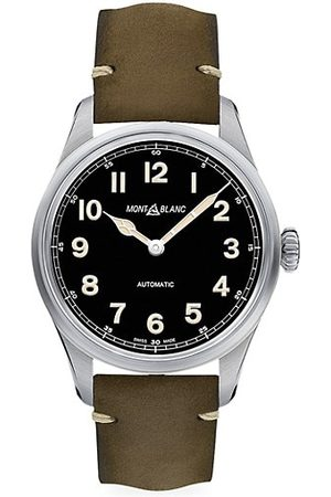 Mont Blanc Watches - 1858 Stainless Steel & Leather Strap Automatic Watch