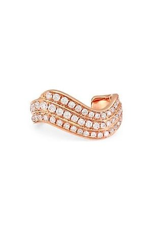 Anita 18K Rose Gold & Diamond Wave Single Ear Cuff
