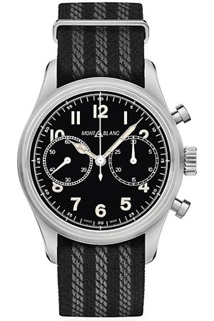 Mont Blanc 1858 Stainless Steel & Nato Strap Automatic Chronograph Watch