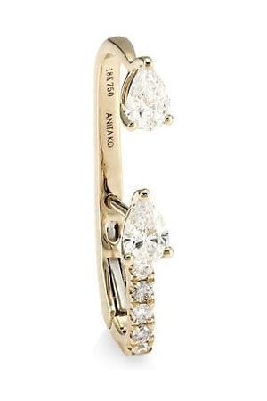 Anita 18K Yellow & Diamond Single Lobe Huggie Earring
