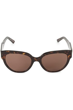 Balenciaga 55MM Tortoise Shell Cat Eye Sunglasses