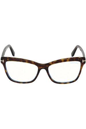 Tom Ford 55MM Blue Block Square Eyeglasses