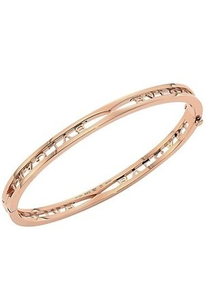 Bvlgari B.zero1 18K Rose Logo Bangle Bracelet