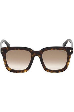 Tom Ford Sari 52MM Square Havana Sunglasses