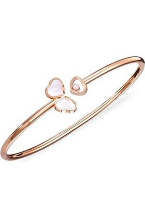 Chopard Happy 18K Rose , Diamond & Mother-Of-Pearl Bangle Bracelet