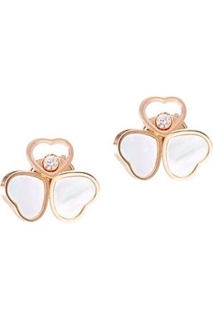 Chopard Happy Hearts 18K Rose , Diamond & Mother-of-Pearl Stud Earrings