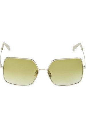 Céline 60MM Square Metal Sunglasses