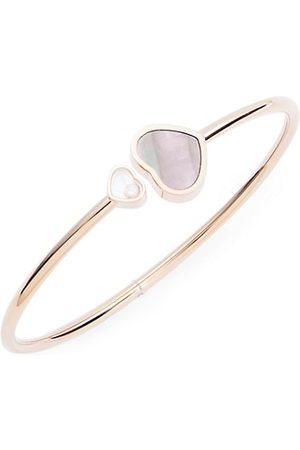 Chopard Happy Hearts 18K Rose , Diamond & Tahitian Mother-Of-Pearl Bangle