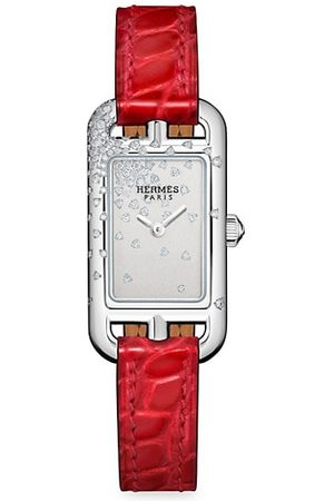 Hermès Watches - Nantucket Diamond, Stainless Steel & Alligator Strap Watch