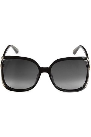 Jimmy Choo Sunglasses - Tilda 60MM Square Glitter Sunglasses