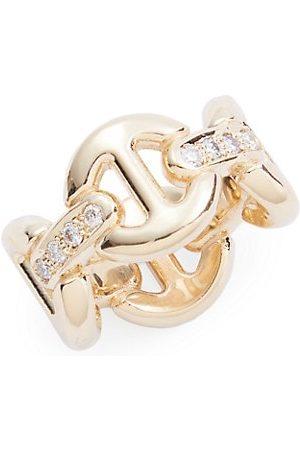 Hoorsenbuhs Quad-Link 18K Yellow & Diamond Ring