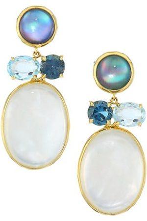 Ippolita Men Earrings - Rock Candy® 18K Yellow & Multi-Stone Drop Earrings