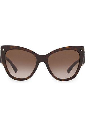 VALENTINO Sunglasses - Legacy 55MM Oblong Cateye Sunglasses