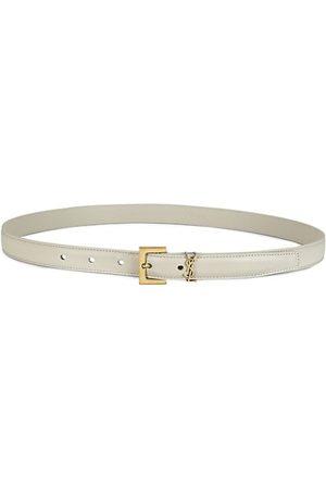 Saint Laurent Women Belts - Monogram Lacquer Leather Belt