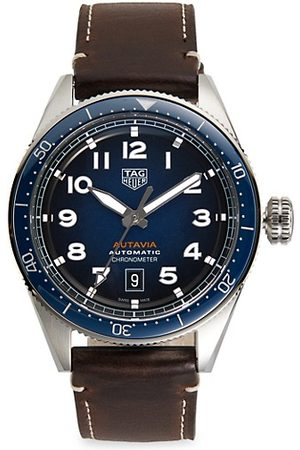 Tag Heuer Watches - Autavia Calibre 5 Stainless Steel Leather Strap Watch