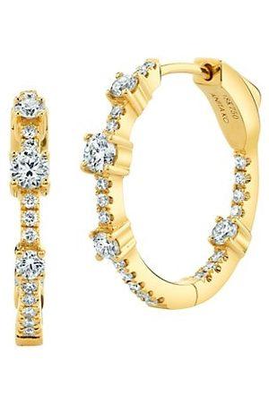 Anita 18K Yellow & Diamond Inside-Outside Collins Medium Hoop Earrings