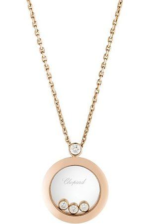 Chopard Necklaces - Happy Diamonds 18K Rose & Diamond Round Pendant Necklace