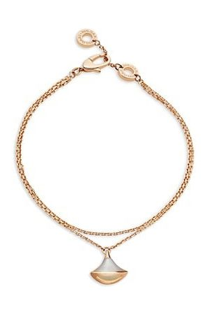 Bvlgari Divas' Dream 18K Rose & Mother-Of-Pearl Pendant Double-Strand Bracelet