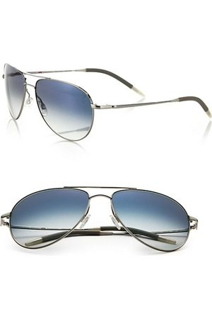 Oliver Peoples Benedict 59MM Chrome Aviator Sunglasses