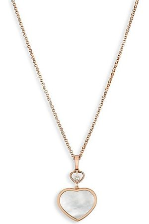 Chopard Necklaces - Happy Hearts 18K Rose , Diamond & Mother-Of-Pearl Pendant Necklace