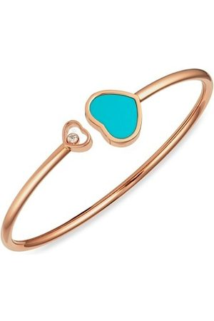 Chopard Happy Hearts 18K Rose , Diamond & Turquoise Bangle