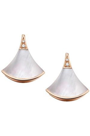 Bvlgari Earrings - Divas' Dream 18K Rose , Mother-Of-Pearl & Diamond Earrings